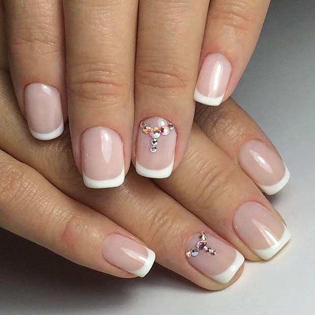 31 Elegant Wedding Nail Art Designs | Nails | Pinterest | Accent ...