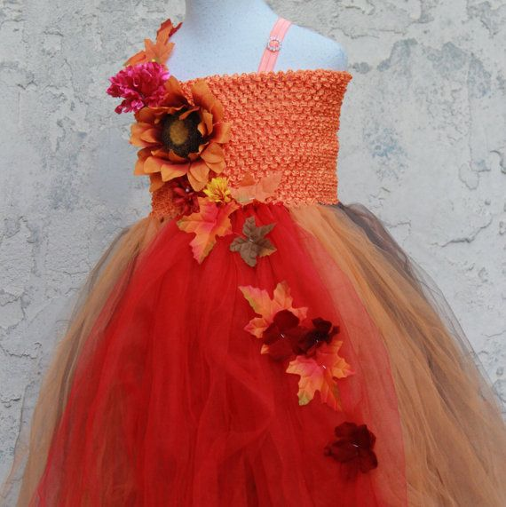 26a138014fb Fall Tutu Dress Fall Flower Girl Dress Autumn by BloomsNBugs ...