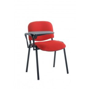 taurus black frame stacking chair with writing tablet uk workstore