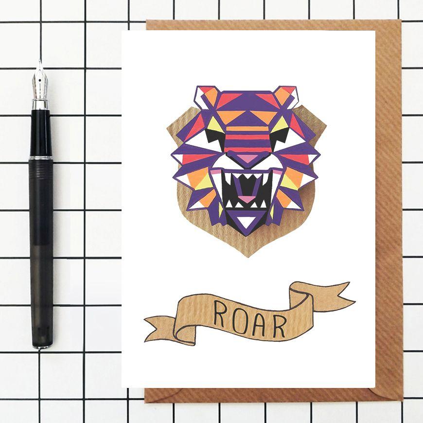 ROAR TIGER CARD