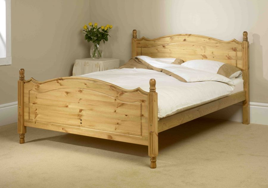 Holz Twin Bed Frame Traditionelle Schlafzimmer Bett