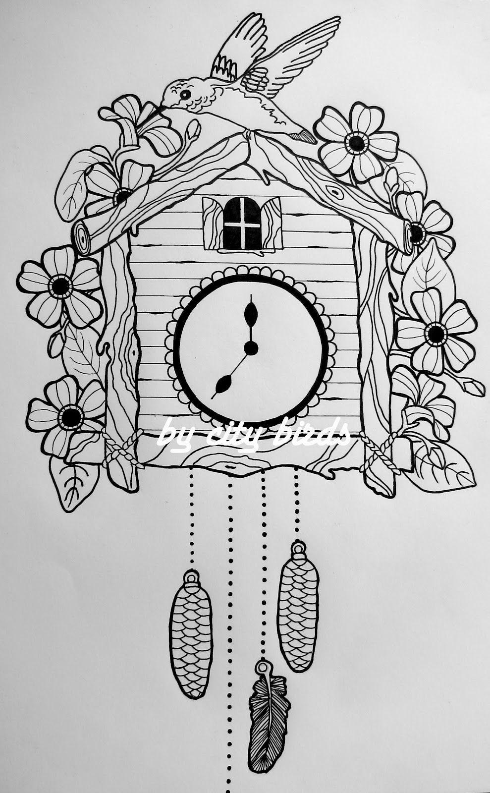 Cuckoo Bird Clock Tattoo Cuckooclock9 cuckoo clock  Tattoo uhr