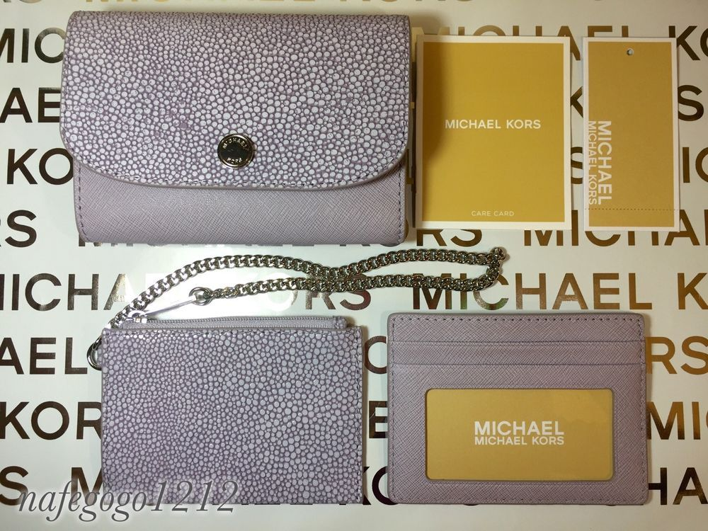 aaa049cf18a6 Michael Kors Juliana Medium 3 in 1 Saffiano Leather Wallet Card Holder |  eBay