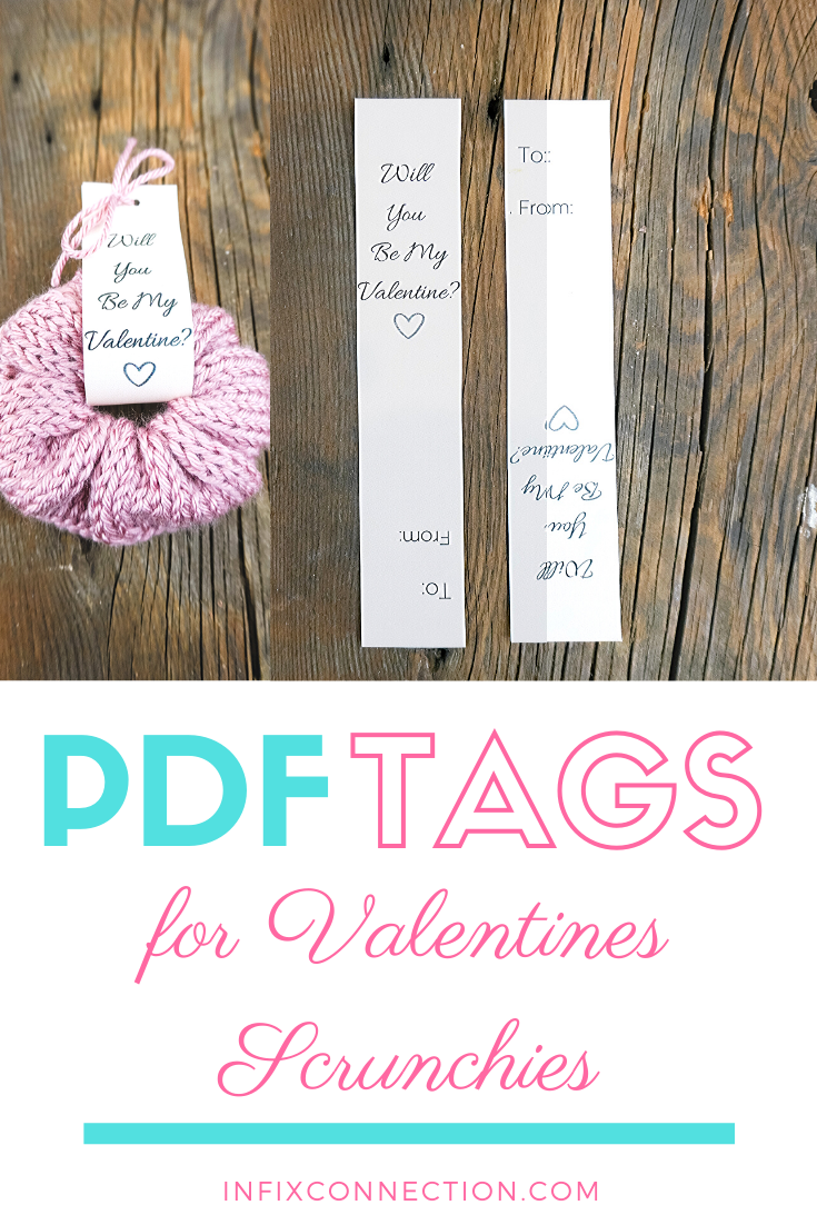 Be My Valentine Printable Tags For Scrunchies Pdf File Valentines Printables Valentine Tags Be My Valentine