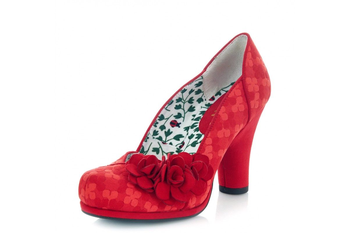5376ab60 Ruby Shoo Charlotte Red Floral High Heel Court Shoes | shoes ...