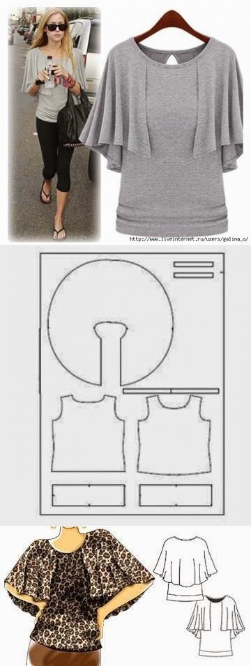 Amable блузочка:3 \\/ los patrones Simples \\/ la SEGUNDA CALLE ...