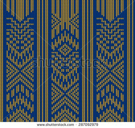 Tribal Aztec Abstract Seamless Pattern Geometric Vector Knitting