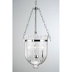 Chrome finish ribbed glass lantern chandelier lighting pinterest chrome finish ribbed glass lantern chandelier aloadofball Images