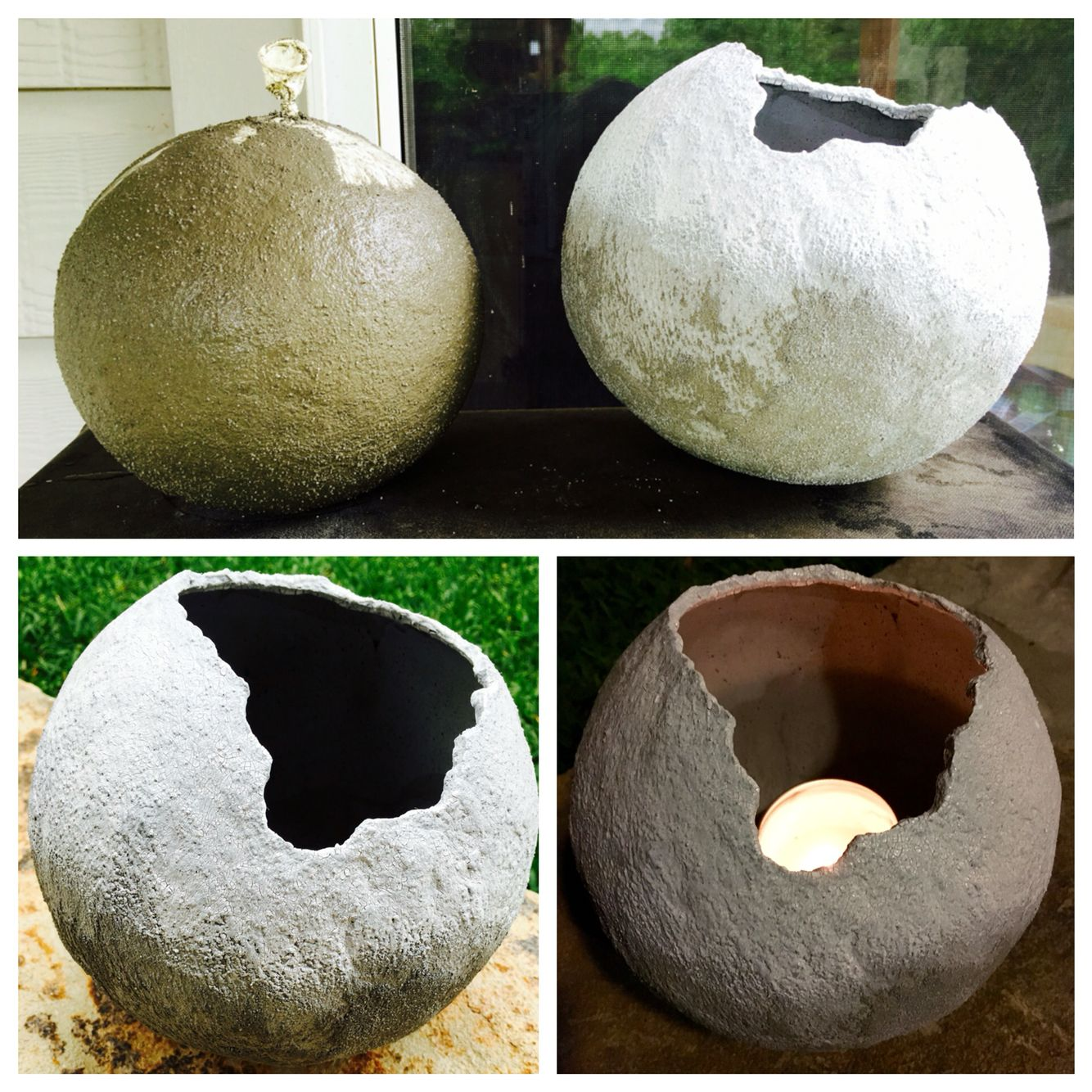 Outdoor Planter Or Candle Holder I Made With Shapecrete