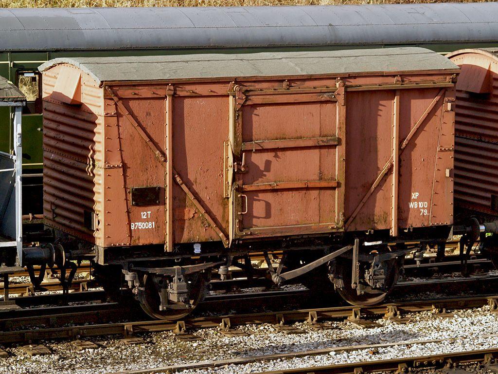 British Railways 12 Ton Ventilated Van Number B750081 Best Wagons British Rail Train Car
