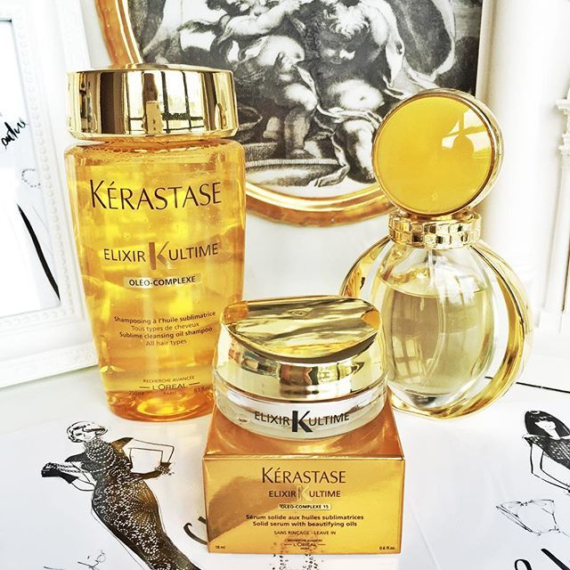 WEBSTA @ meganhess_official - It's a home pampering session for me today! Beautiful hair products from @kerastaseuk and @bulgariofficial