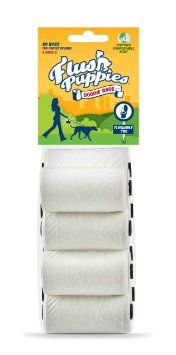 AFlush Puppies Doodie Bags, Flushable & Certified Compostable, 8 Refill Rolls (80 Bags): Pet Supplies
