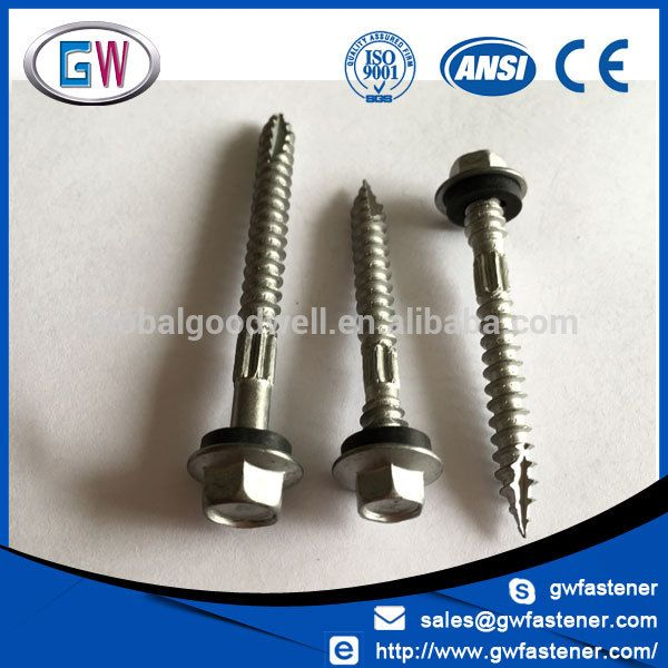 Type 17 Hex Head Hi Grip Timber Roofing Screws W Seal Roofing Screws Screws Manufacturing