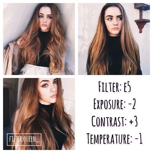 Instagram media by filter.queen_ -  selfie filter  - ✺looks best with: selfies! - ✺free alternative/ A6 Exposure:-2 Contrast:+1 Tint:+2                                                                                                                                                      More