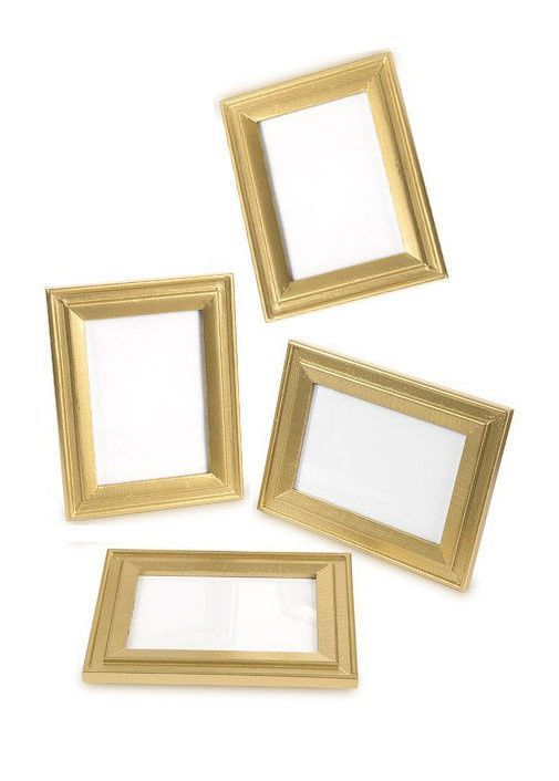 David Tutera Table Picture Frame Set in Gold - 4 Pieces - 5\
