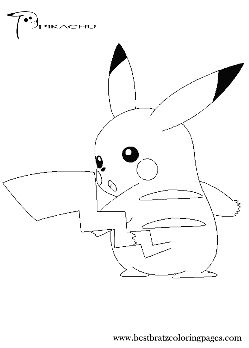 Free Printable Pikachu Coloring Pages For Kids | Pikachu | Pinterest ...