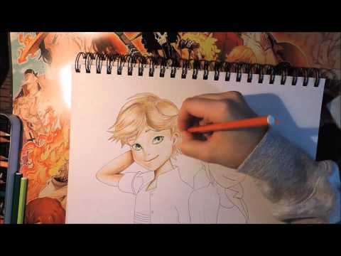 Miraculous Ladybug Adrien X Marinette Speed Color Drawing Youtube Colorful Drawings Fairy Art Drawings