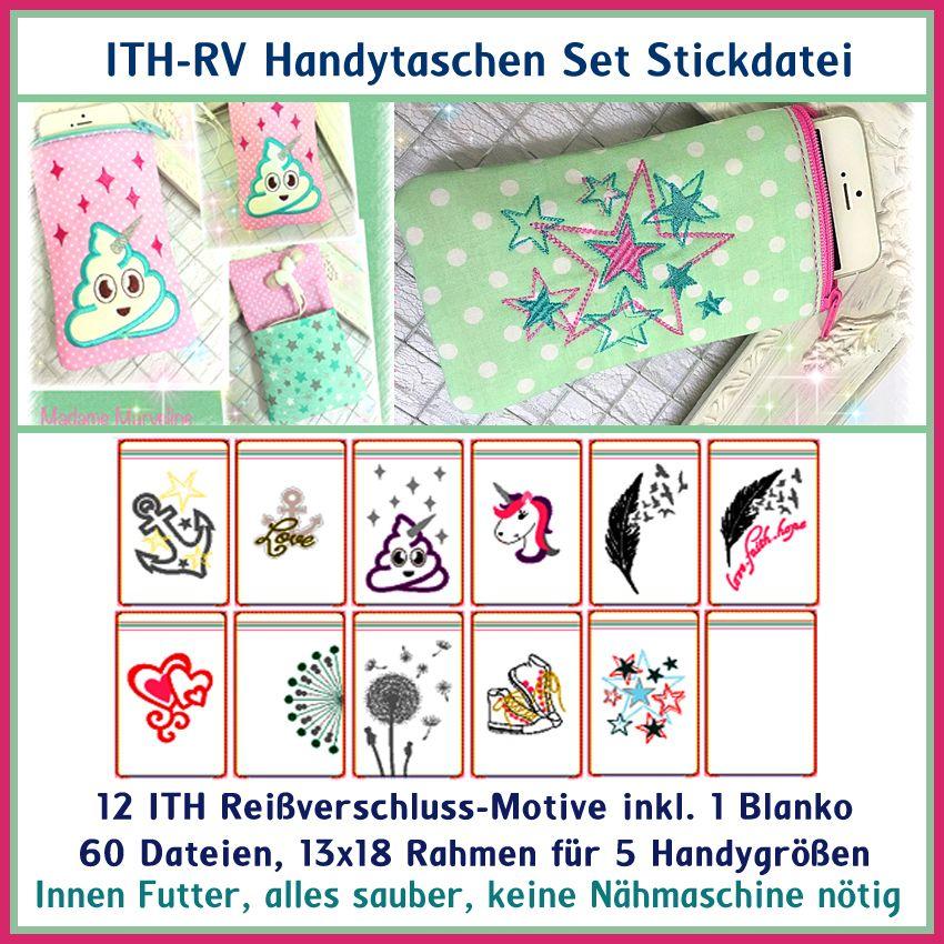 ITH RV-Handy-Taschen Set Stickdatei | machinaal borduren | Pinterest ...