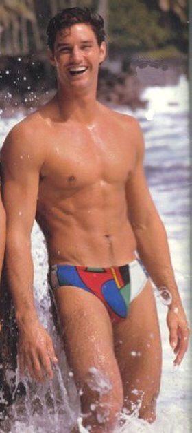 Brian Buzzini   Vintage Guys   Man swimming, Hunks men