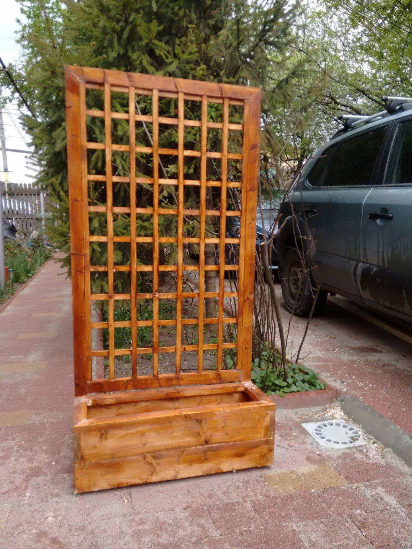 Flower Box With Trellis Myoutdoorplans Free 640 x 480