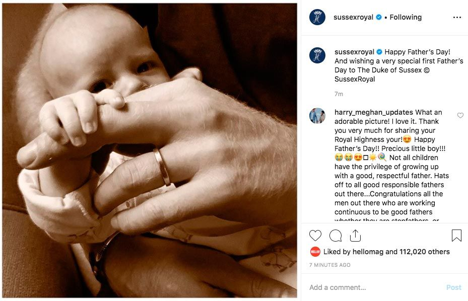 Prince Harry Shares Gorgeous New Photo Of Baby Archie To Celebrate