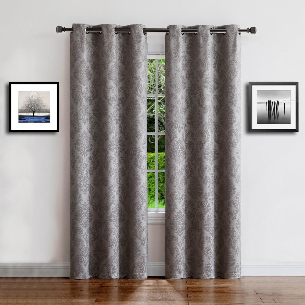 Warm Home Designs Embossed Textured Blackout Energy Efficient Silver Grey Curtains In 12 Sizes Silver Grey Curtains Beige Curtains Curtains