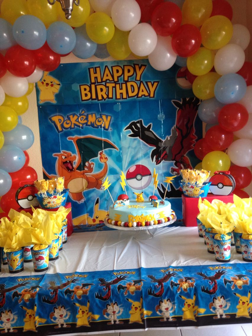 Birthday table decorations boy - Pokemon Party Decoration