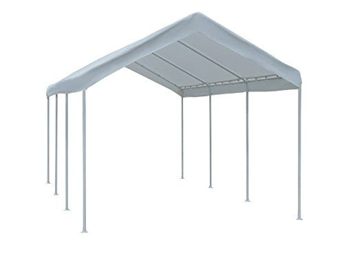 Abba Patio 10 X 20feet Domain Outdoor Carport With Steel Legs White Want To Know More Click On The Image Note Amazo Car Canopy Steel Canopy Canopy Outdoor