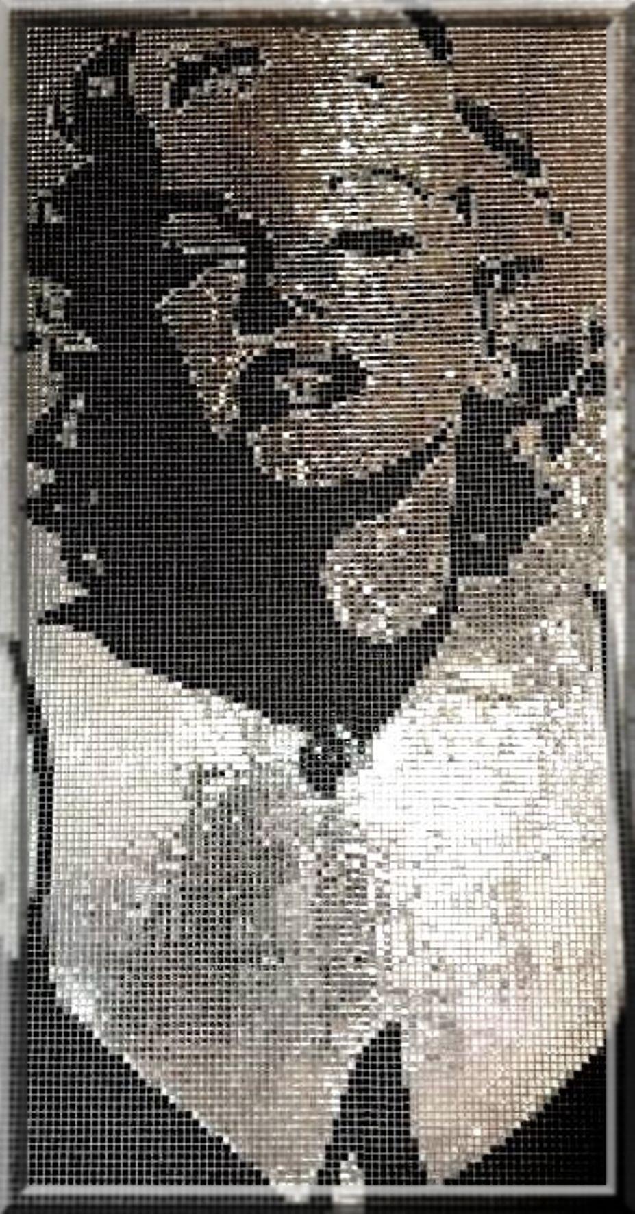 Tableau Mosaique Personnalisé fabrication artisanale d'une mosaïque pixelisée de marilyn monroe