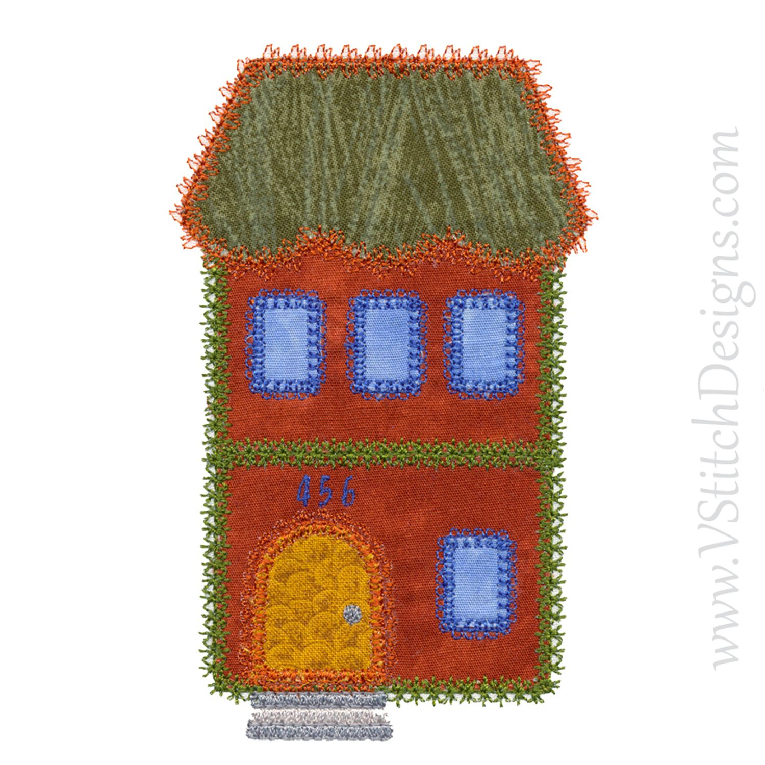 Accuquilt Small Houses Applique Embroidery Design Set