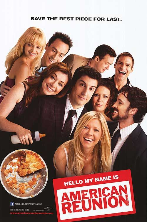 i'm watchin' 'American Reunion' omg i remember when the first one came out and it was sooooo shocking lol ain't shit now huh