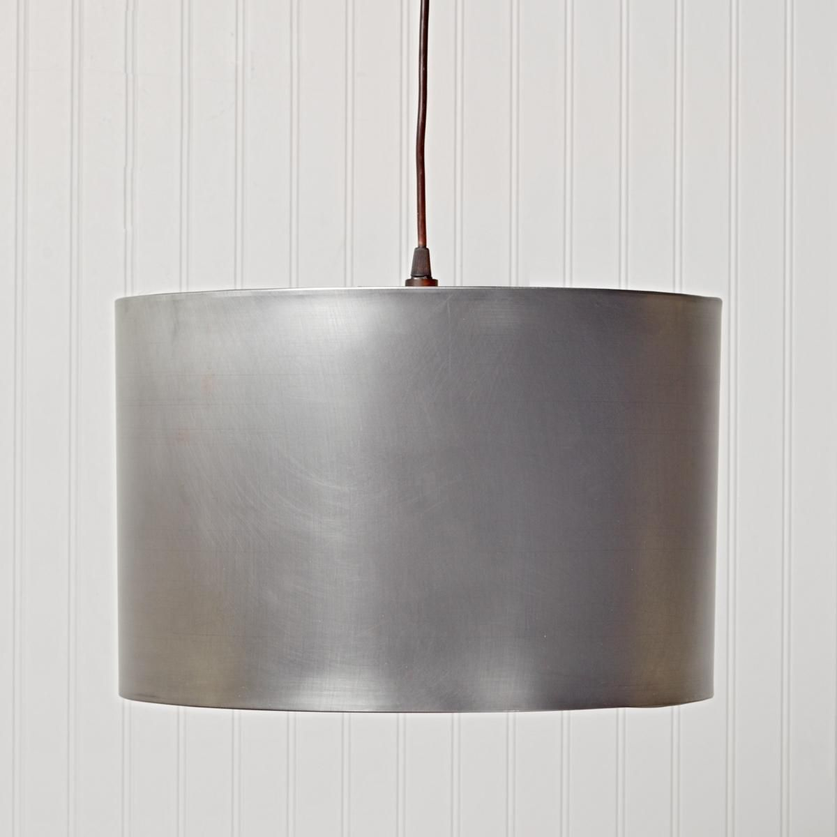 Kitchen Drum Light Metal Drum Shade Pendant Light Pewter Colors And Antiques