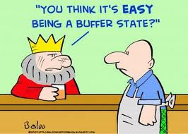 Buffer State: Neutral state between 2 warring states