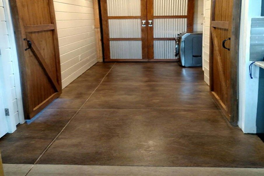 How to acid stain concrete floors patios or basements in 4 simple