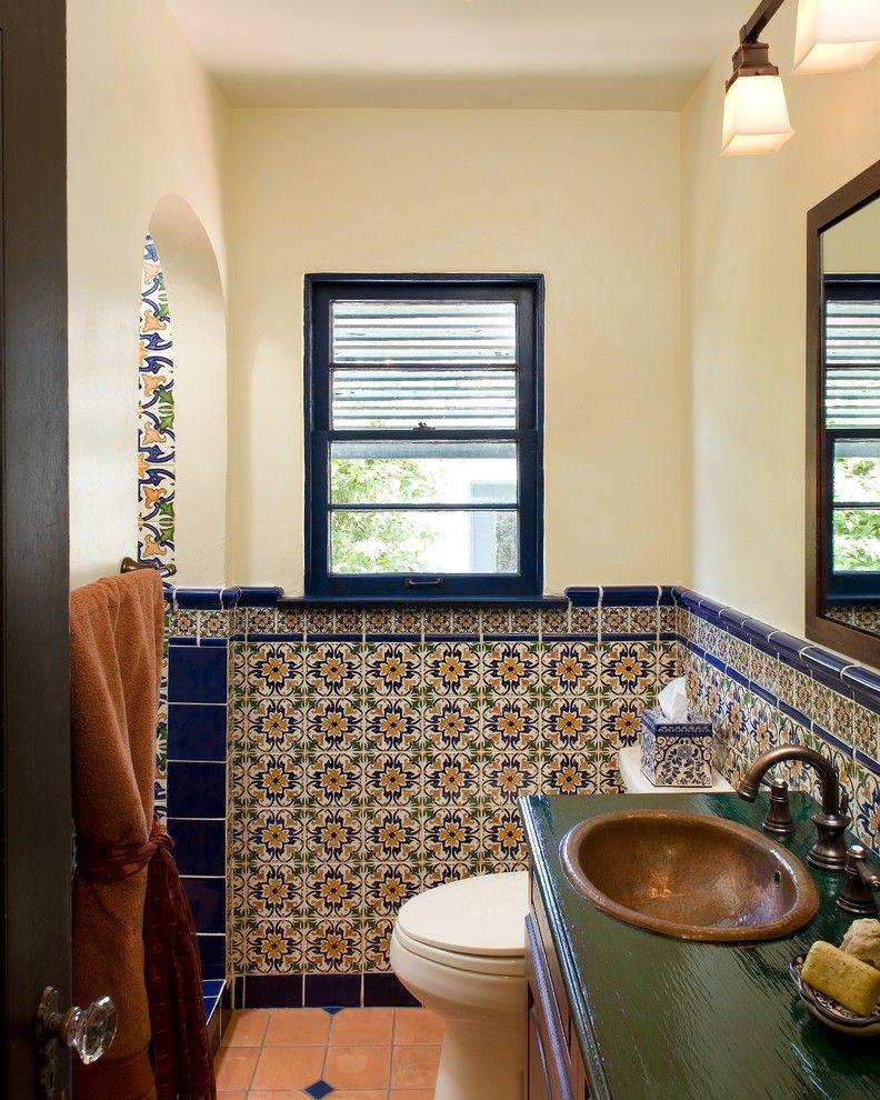 25 Mediterranean Bathroom Design Ideas Mexican Tile Bathroom