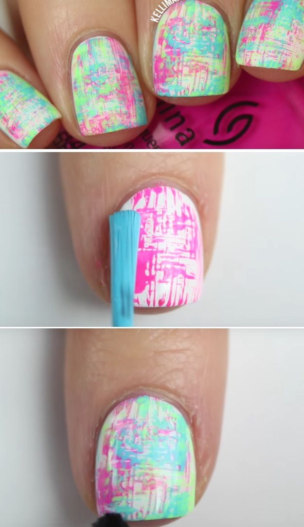41 Super Easy Nail Art Ideas for Beginners   Easy nail art, Manicure ...