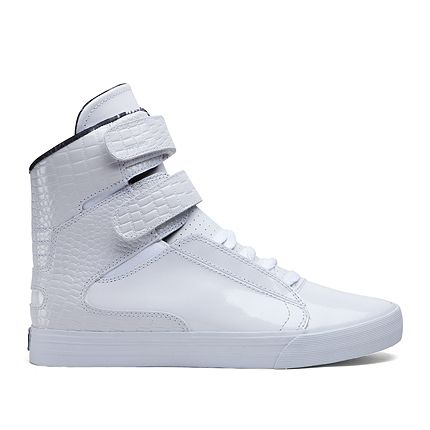 2d941b421a SUPRA SOCIETY II | WHITE - WHITE PATENT LEATHER | Official SUPRA Footwear  Site