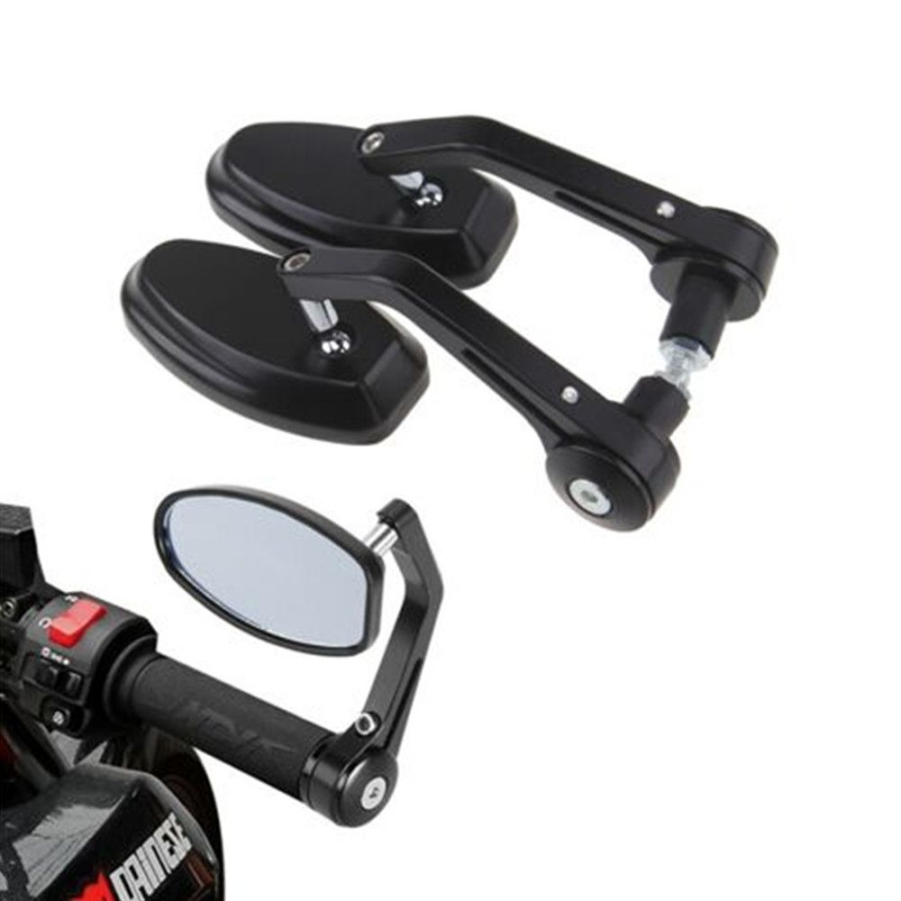 Motorcycle Handle Bar End Mirrors for Honda Yamaha Suzuki Kawasaki Ducati Black
