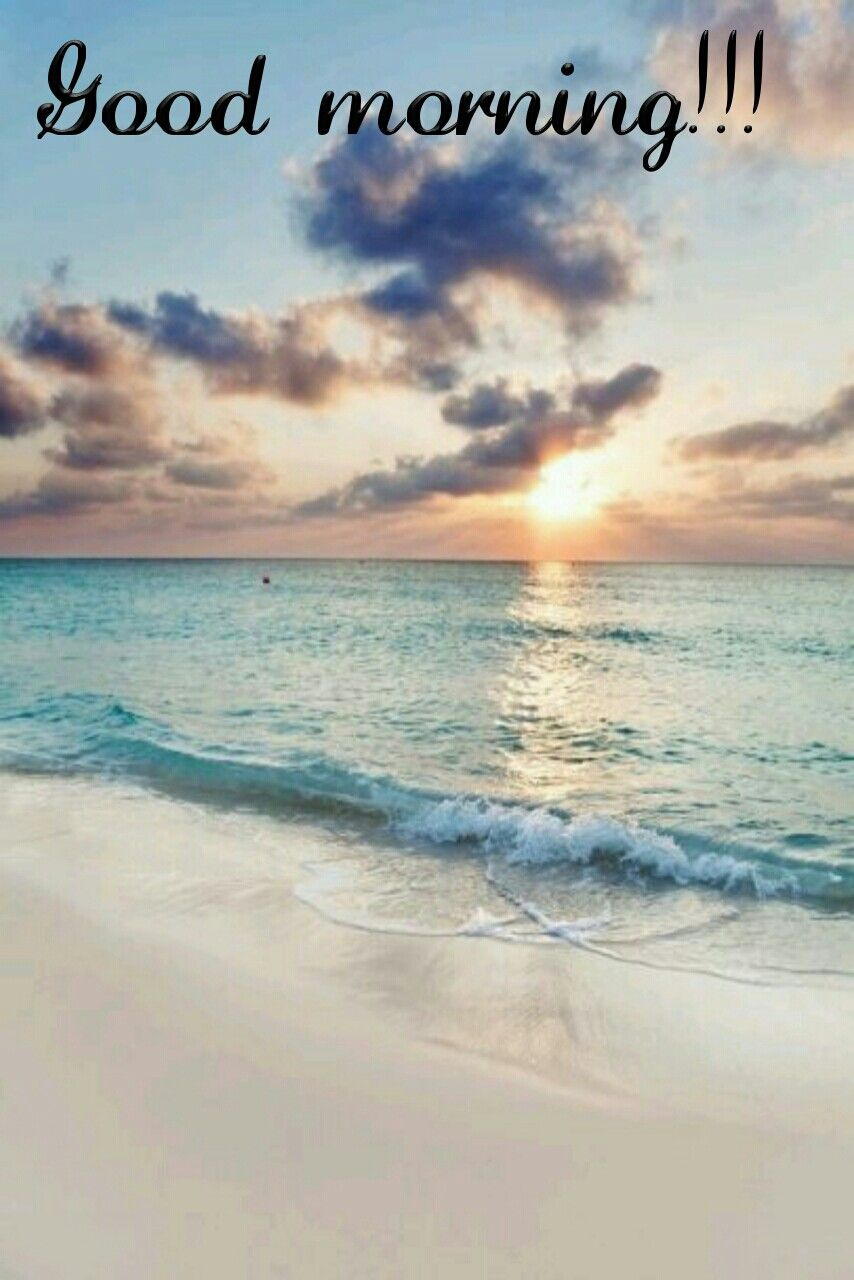 Good Morning at Beach stock photo. Image of concept