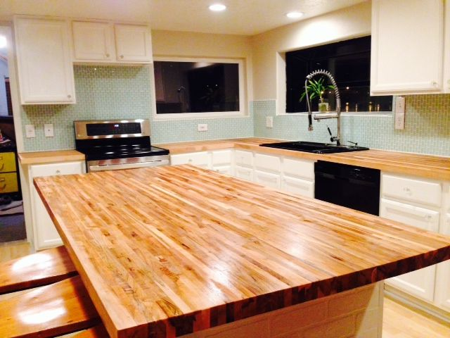 We Love The 12 Maple Countertops These Portland Or Customers Used With Smooth An Butcher Block Countertops Maple Butcher Block Diy Butcher Block Countertops