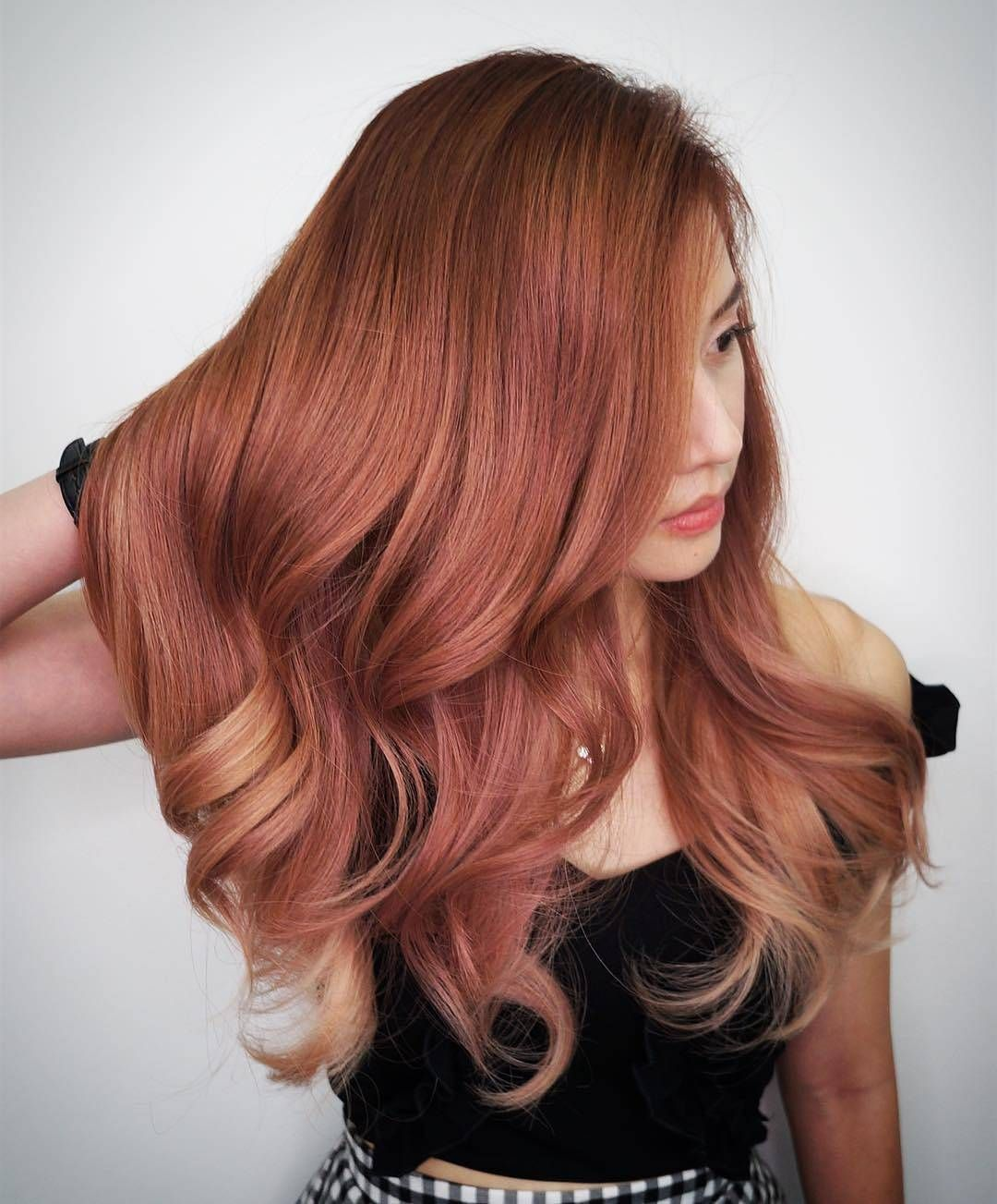 Rose Gold Hair Colour Tones Continue To Be A Popular Request To