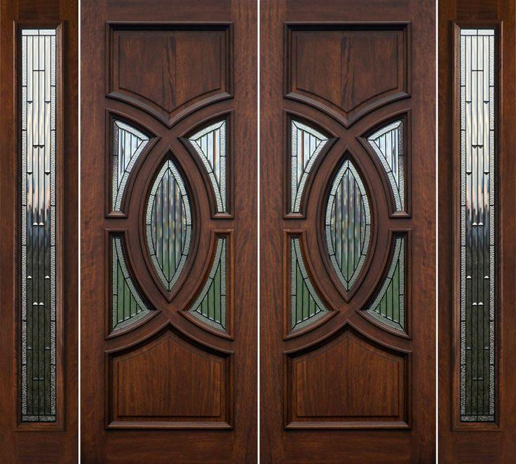 double front doors for homes double wooden front doors