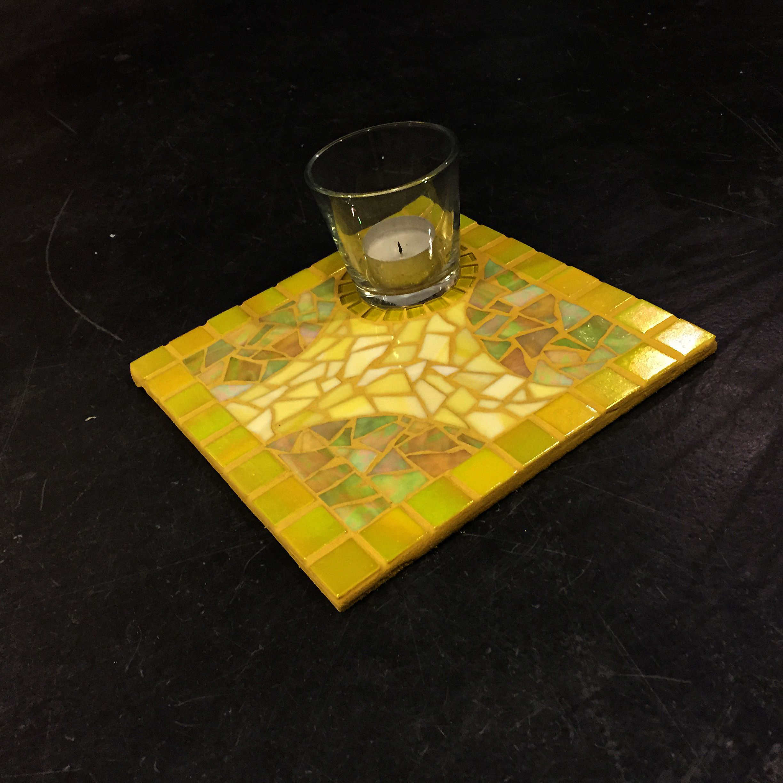 Moza ek waxinne kit geel 20x20 cm giarise mozaiek kits for Kit da garage 20x20