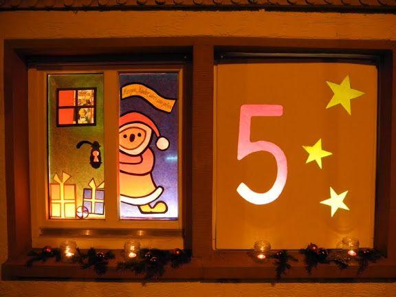 Adventsfenster basteln und handarbeit pinterest - Adventsfenster gestalten ideen ...
