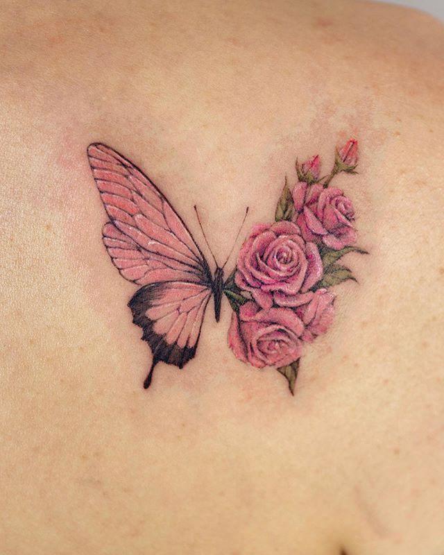 Photo of Hübscher Schmetterlings-Tattoo Designs und Placement-Ideen – Seite 10 – Cocopipi