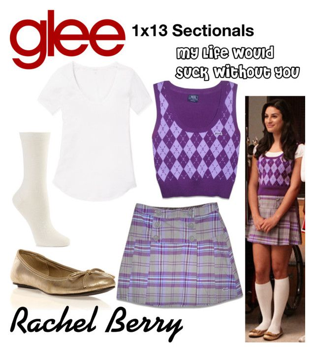 """Rachel Berry (Glee) : My Life Would Suck Without You"" by aure26 ❤ liked on Polyvore featuring Le Tigre, Hue, Wilfred and glee"