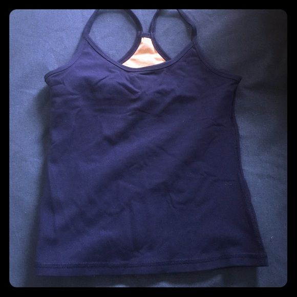 Lululemon Navy Tank Perfect condition. To small for me. lululemon athletica Tops Tank Tops