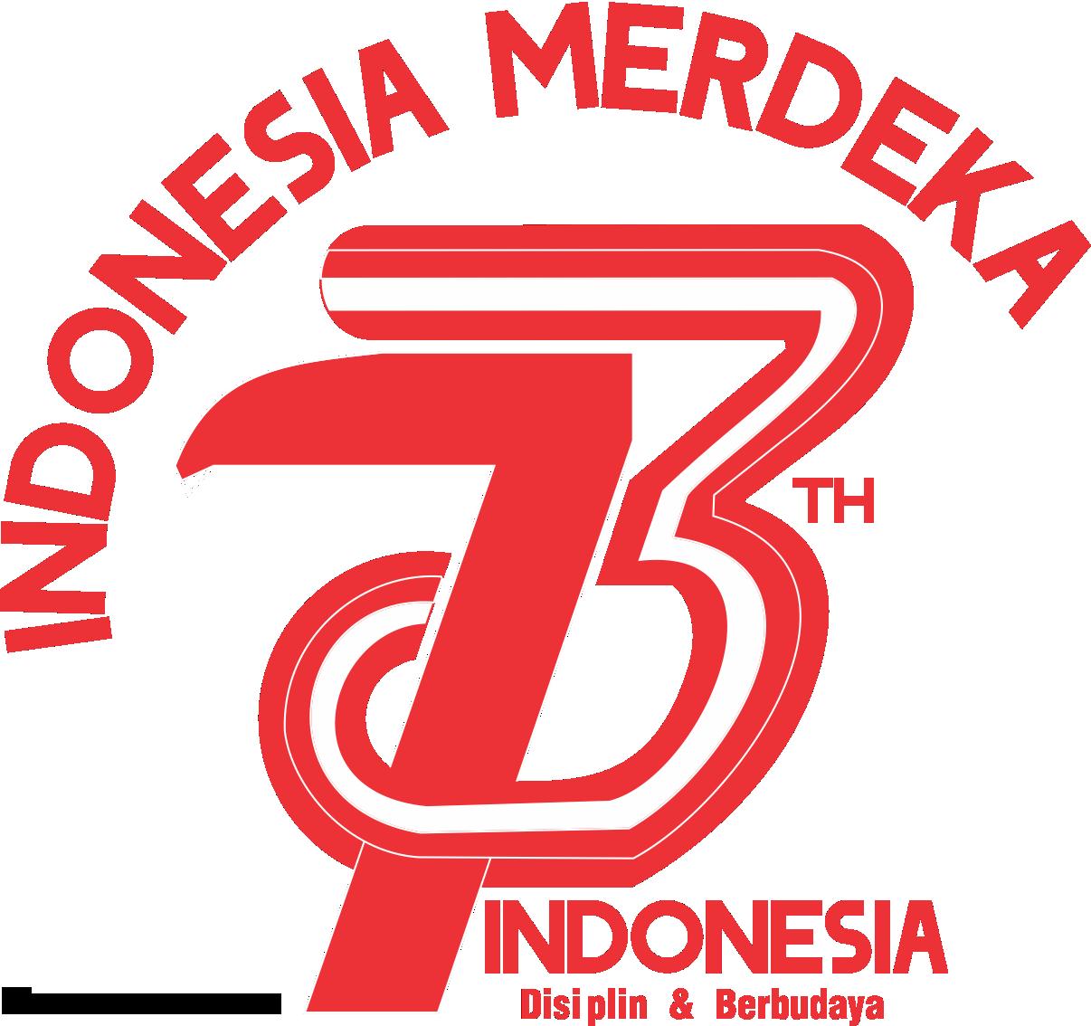 Merdeka 73 Tahun Indonesia Indonesia, Desain logo, Huruf