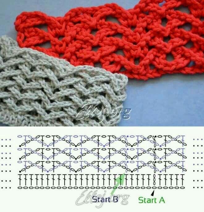 Chevron(different way)   crochet stitches   Pinterest   Häkelmuster ...