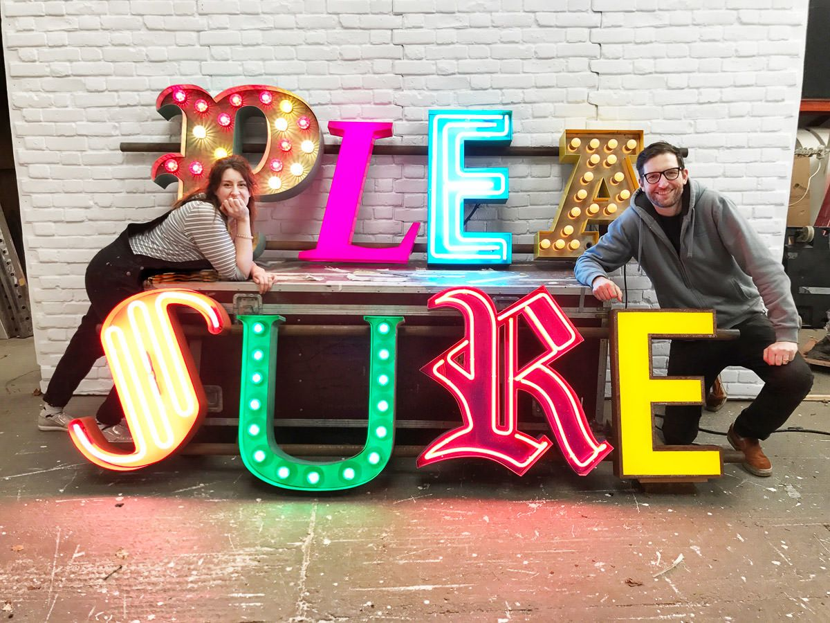 Neon Signs, Oversized Props + Colourful Decor Light up